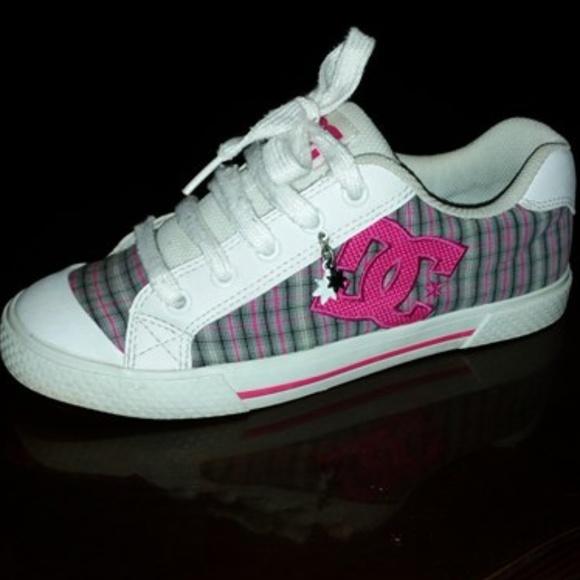 Dc 75w Skate Shoes Plaid Pink